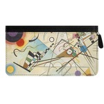 Kandinsky Composition 8 Genuine Leather Ladies Zippered Wallet