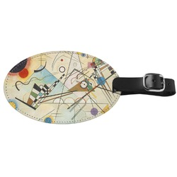 Kandinsky Composition 8 Genuine Leather Oval Luggage Tag