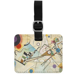 Kandinsky Composition 8 Genuine Leather Luggage Tag