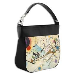 Kandinsky Composition 8 Hobo Purse w/ Genuine Leather Trim
