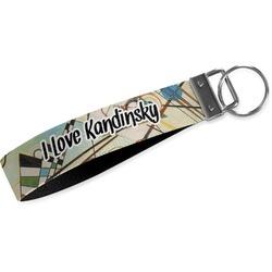 Kandinsky Composition 8 Wristlet Webbing Keychain Fob