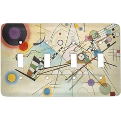 Kandinsky Composition 8 Light Switch Cover (4 Toggle Plate)