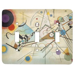 Kandinsky Composition 8 Light Switch Cover (3 Toggle Plate)