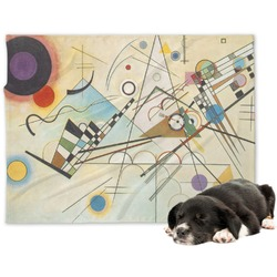 Kandinsky Composition 8 Minky Dog Blanket