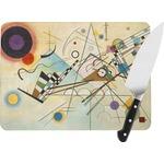 Kandinsky Composition 8 Rectangular Glass Cutting Board