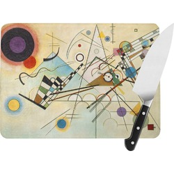 Kandinsky Composition 8 Rectangular Glass Cutting Board