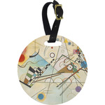 Kandinsky Composition 8 Round Luggage Tag