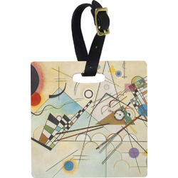 Kandinsky Composition 8 Square Luggage Tag