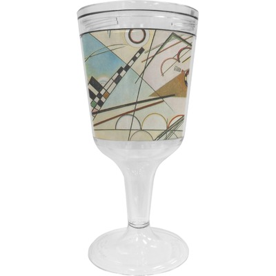 Kandinsky Composition 8 Wine Tumbler - 11 oz Plastic