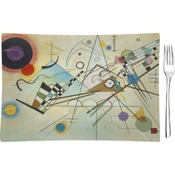 Kandinsky Composition 8 Glass Rectangular Appetizer / Dessert Plate - Single or Set