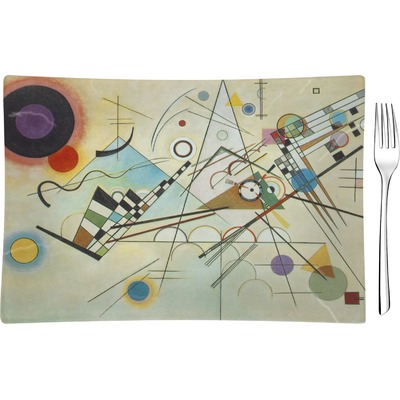 Kandinsky Composition 8 Glass Rectangular Appetizer / Dessert Plate - Single or Set