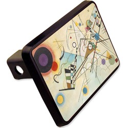Kandinsky Composition 8 Rectangular Trailer Hitch Cover - 2""