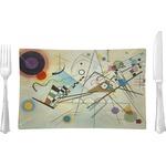 Kandinsky Composition 8 Glass Rectangular Lunch / Dinner Plate - Single or Set