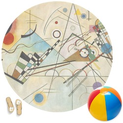 Kandinsky Composition 8 Round Beach Towel