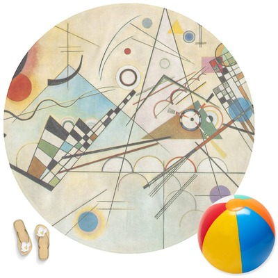 Kandinsky Composition 8 Round Beach Towel Youcustomizeit
