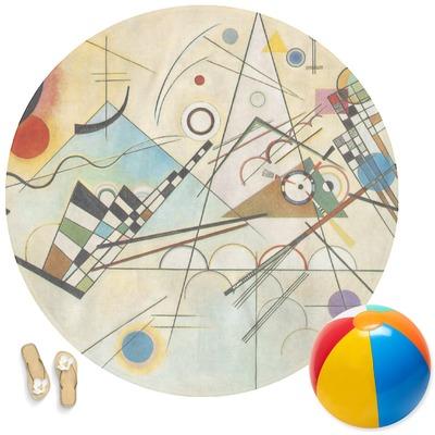 Kandinsky Composition 8 Round Beach Towel