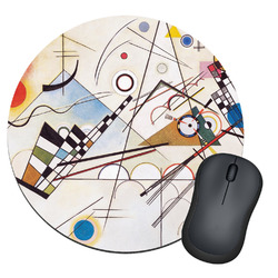 Kandinsky Composition 8 Round Mouse Pad