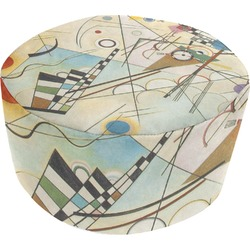 Kandinsky Composition 8 Round Pouf Ottoman
