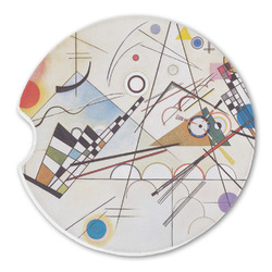 Kandinsky Composition 8 Sandstone Car Coasters
