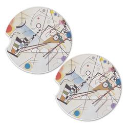 Kandinsky Composition 8 Sandstone Car Coasters - Set of 2