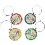 Kandinsky Composition 8 Wine Charms (Set of 4)