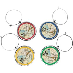 Kandinsky Composition 8 Wine Charms (Set of 4)
