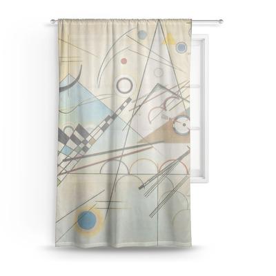 Kandinsky Composition 8 Sheer Curtains