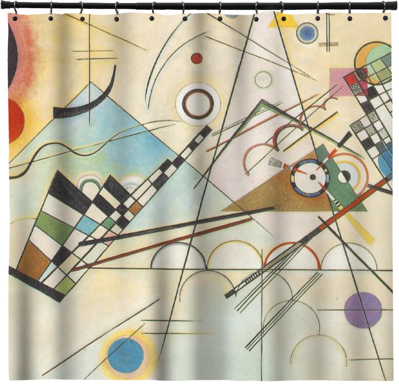 Kandinsky Composition 8 Shower Curtain - Custom Width & Height ...