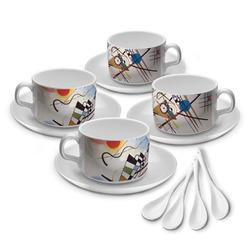 Kandinsky Composition 8 Tea Cup - Set of 4