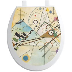 Kandinsky Composition 8 Toilet Seat Decal