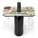 Kandinsky Composition 8 Wine Bottle & Glass Holder