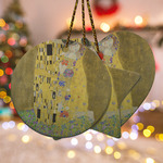 The Kiss (Klimt) - Lovers Ceramic Ornament