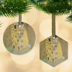 The Kiss (Klimt) - Lovers Flat Glass Ornament
