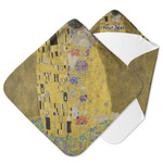 The Kiss (Klimt) - Lovers Hooded Baby Towel