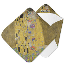 The Kiss (Klimt) - Lovers Hooded Baby Towel