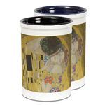 The Kiss (Klimt) - Lovers Ceramic Pencil Holder - Large