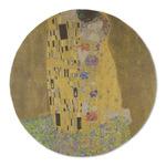 The Kiss (Klimt) - Lovers Round Linen Placemat