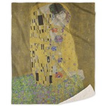 The Kiss (Klimt) - Lovers Sherpa Throw Blanket