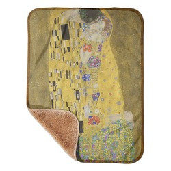 "The Kiss (Klimt) - Lovers Sherpa Baby Blanket 30"" x 40"""