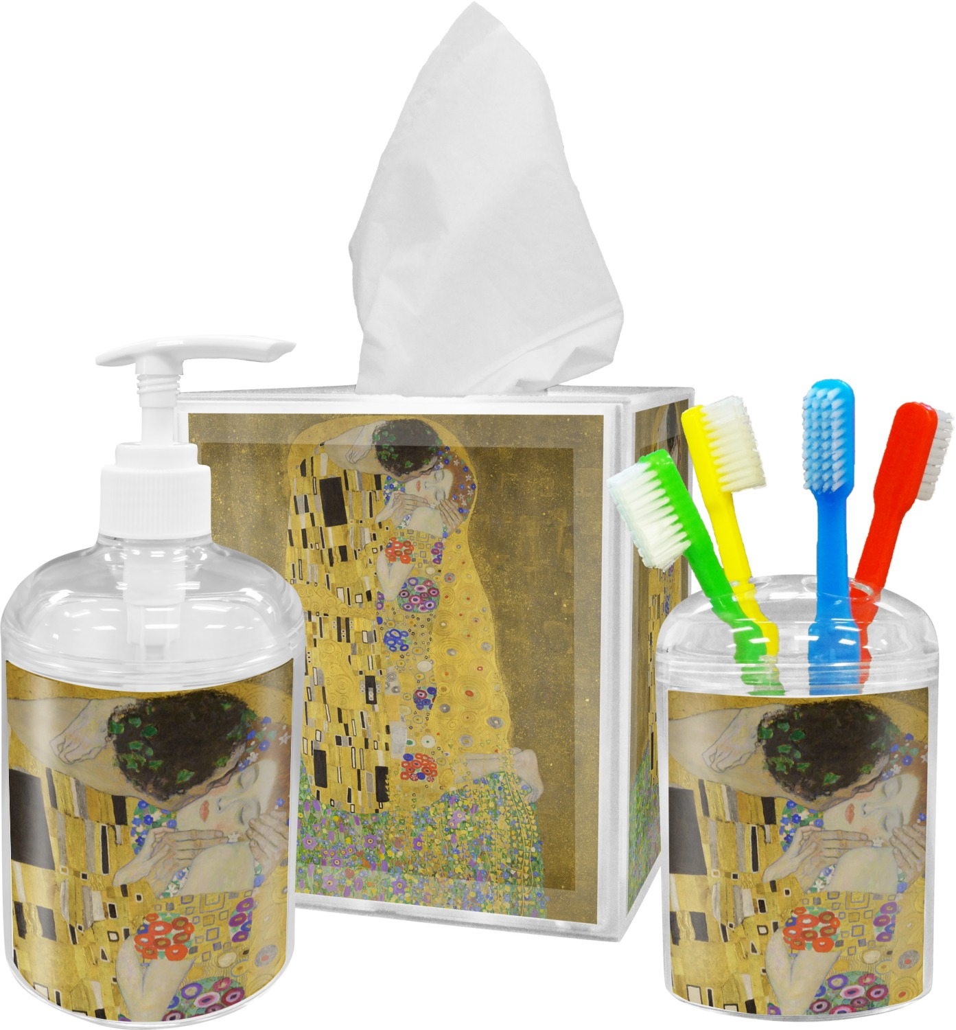 The Kiss Lovers Bathroom Accessories Set Youcustomizeit