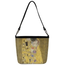 The Kiss - Lovers Bucket Bag w/ Genuine Leather Trim
