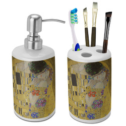 The Kiss - Lovers Bathroom Accessories Set (Ceramic)