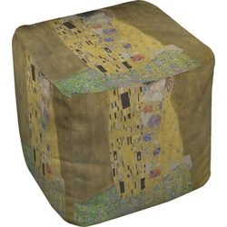 The Kiss - Lovers Cube Pouf Ottoman