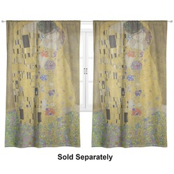 "The Kiss - Lovers Curtains - 40""x84"" Panels - Unlined (2 Panels Per Set)"