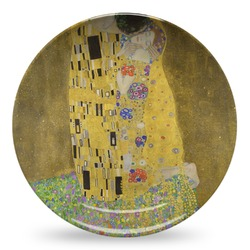 The Kiss (Klimt) - Lovers Microwave Safe Plastic Plate - Composite Polymer