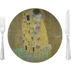 """The Kiss (Klimt) - Lovers 10"""" Glass Lunch / Dinner Plates - Single or Set"""