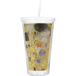 The Kiss (Klimt) - Lovers Double Wall Tumbler with Straw