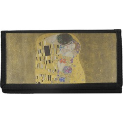 The Kiss (Klimt) - Lovers Canvas Checkbook Cover