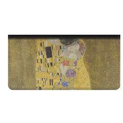 The Kiss (Klimt) - Lovers Genuine Leather Checkbook Cover