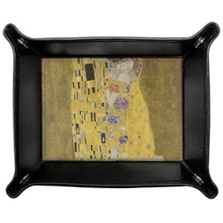 The Kiss (Klimt) - Lovers Genuine Leather Valet Tray